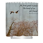 The Hand Of Friendship Shower Curtain