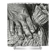 The Hand That Feeds Us Shower Curtain