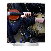 The Hands Of Jazz Shower Curtain