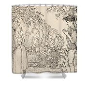 The Happy Agreement Shower Curtain