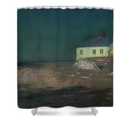 The Harbor Light Shower Curtain