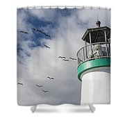 The Harbor Lighthouse Shower Curtain