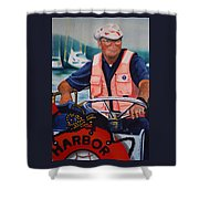 The Harbor Master Shower Curtain