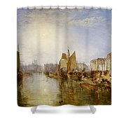 The Harbor Of Dieppe Shower Curtain