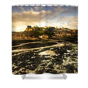 The Harbour At Lee  Shower Curtain