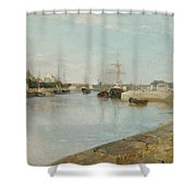 The Harbour At Lorient Shower Curtain