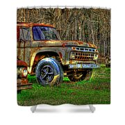 The Hard Headed Ford Work Horses. Shower Curtain