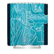 The Harp Player Shower Curtain
