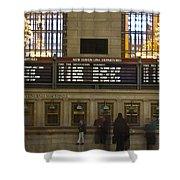 The Hartford Line Shower Curtain