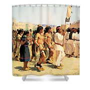 The Harvest Dance Shower Curtain