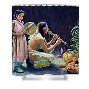The Harvest Song Shower Curtain
