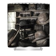 The Hatters Shop - 19th Century Hatter Shower Curtain