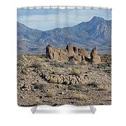 The Haulapai Mountains Shower Curtain