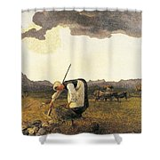 The Hay Harvest  Shower Curtain