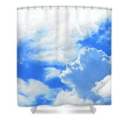 The Head In The Clouds Shower Curtain