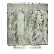 The Healing Of The Woman With An Issue Of Blood Shower Curtain by William Blake