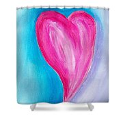 The Heart Is Shower Curtain