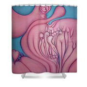 The Heart Of It All Shower Curtain by Lynn Buettner