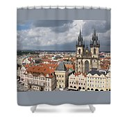 The Heart Of Old Town Shower Curtain