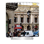 The Heart Of Paris Shower Curtain