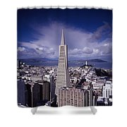 The Heart Of San Francisco Shower Curtain by Mountain Dreams