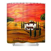 The Heat Of Tuscany Shower Curtain