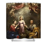 The Heavenly And Earthly Trinities Shower Curtain
