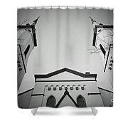 The Heavenly Spires Shower Curtain