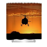 The Helicopter Shower Curtain