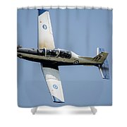The Hellenic Air Force Daedalus Demo Shower Curtain