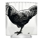 The Hen Shower Curtain