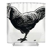 The Hen Shower Curtain