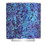 The Hidden Blue 2011 Shower Curtain