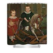 The Hobby Horse Shower Curtain