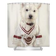 The Hockey Player Shower Curtain
