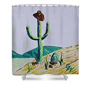 the Hold Up Shower Curtain