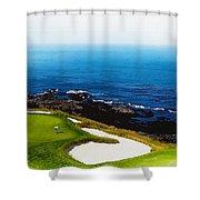 The Hole 7 At Pebble Beach Golf Links Shower Curtain