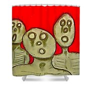 The Hollow Men 88 - Three Walkers Shower Curtain