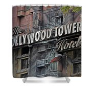 The Hollywood Hotel Signage Shower Curtain