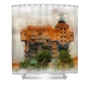 The Hollywood Tower Hotel Disneyland Photo Art 01 Shower Curtain