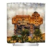 The Hollywood Tower Hotel Disneyland Photo Art 02 Shower Curtain