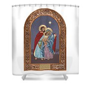 The Holy Family For The Holy Family Hospital Of Bethlehem With Frame Shower Curtain