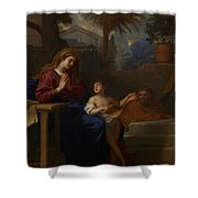 The Holy Family In Egypt Shower Curtain