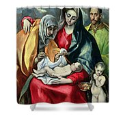 The Holy Family With St Elizabeth Shower Curtain