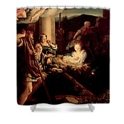 The Holy Night Shower Curtain