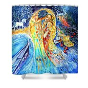 The Homecoming Kiss After Gustav Klimt Shower Curtain