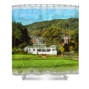 The Homestead Country Club Shower Curtain