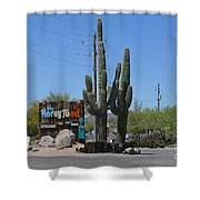 The Horny Toad Shower Curtain