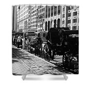 The Horse And Buggy Lineup Shower Curtain