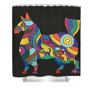 The Horse Of Good Fortune Shower Curtain